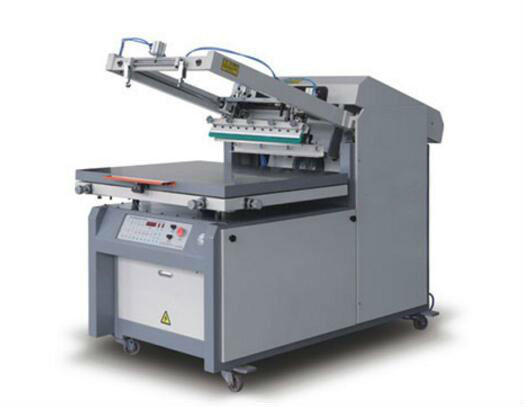 Microcomputer Control Flat Bed Screen Printing Machine , Screen Printing Press Machine Allfine