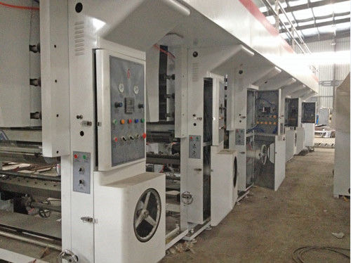 RotoGravure Printing Machine With Servo Motor Controlled Automatic Tension Control System PLC Program Touch Screen
