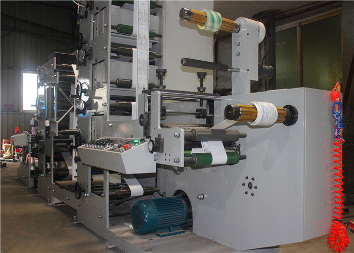 UV Dryer Central Drum Flexo Printing Machine , Digital Flexo Printing Machine 380V AC Main Power