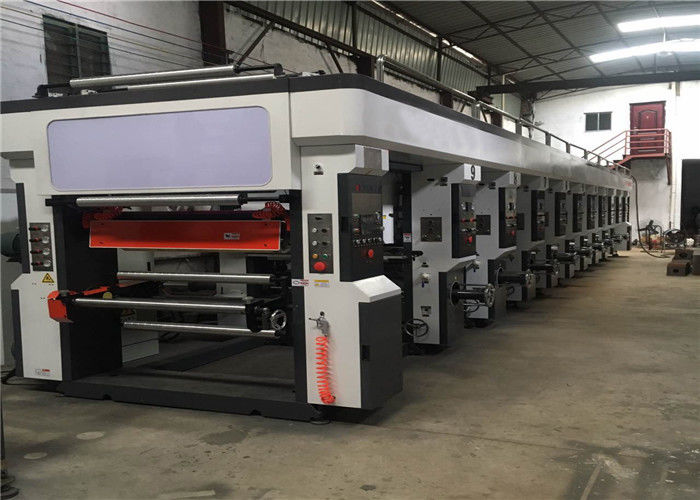 Multi Colour Heat Transfer Paper Printing Machine , Roto Printing Machine Tension Range 3 - 25kg