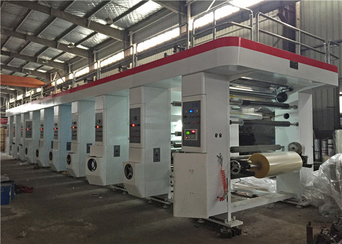 Servo Motor Driven Rotogravure Printing Machine Medium Speed For Flexible Package