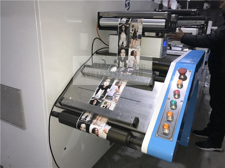 Narrow Web Single Color Flexo Printing And Semi Rotary Automatic Die Cutting Machine