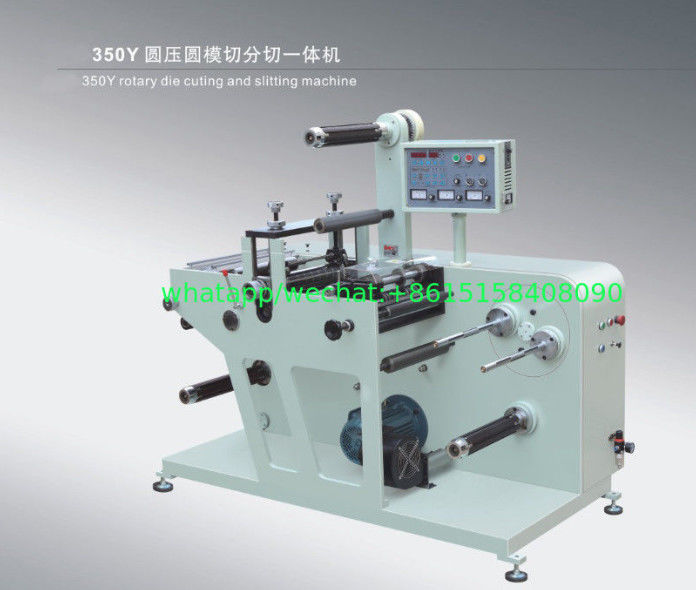 Rotary Blank Label Die Cuting Machine With Slitter With One Set Magnetic Cylinder And Magnetic Die